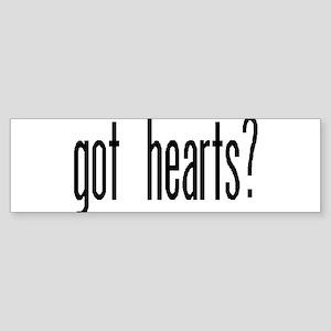 """""""Got Hearts?"""" Bumper Sticker"""