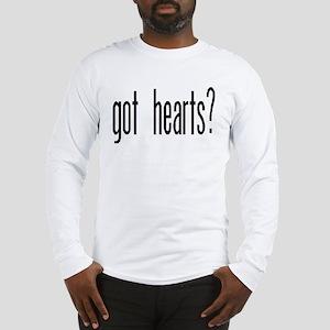 """""""Got Hearts?"""" Long Sleeve T-Shirt"""