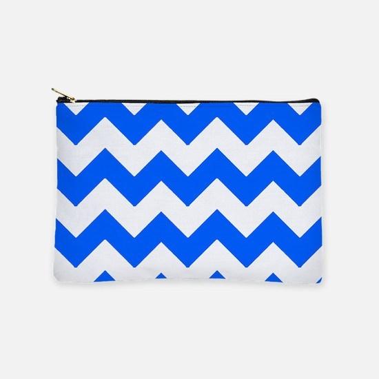Blue Chevrons Makeup Bag