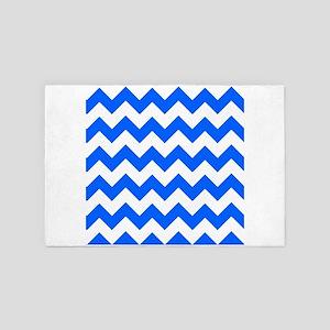 Blue Chevrons 4' x 6' Rug