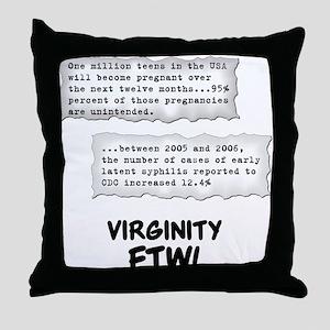 Virginity FTW! Throw Pillow