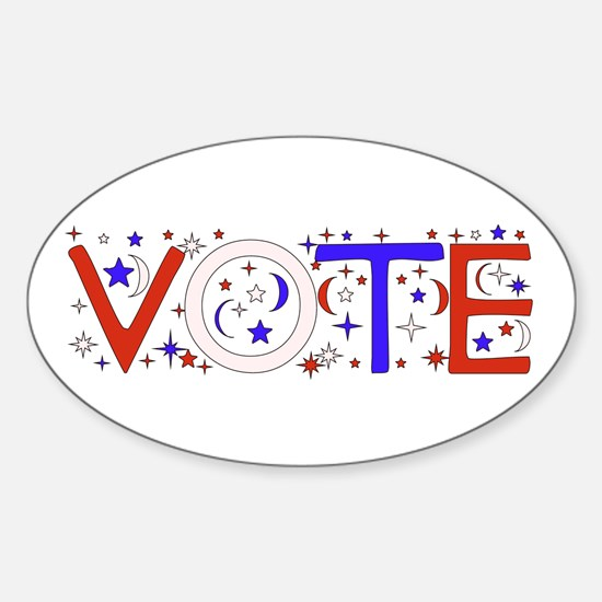 Get Out The Vote 2008 Oval Decal