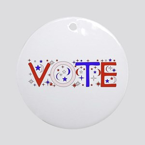 Get Out The Vote 2008 Ornament (Round)