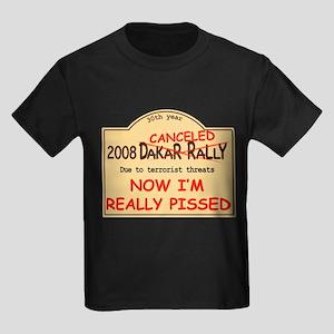 Dakar canceled pissed Kids Dark T-Shirt