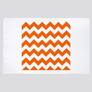 Orange Chevrons 4' x 6' Rug