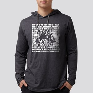 Mountaineering words Mens Hooded Shirt