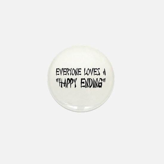 Happy Ending Mini Button