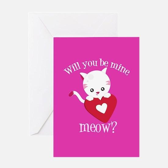 Valentine Cat Greeting Card