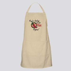 You're Looking at One Hot Papou! BBQ Apron