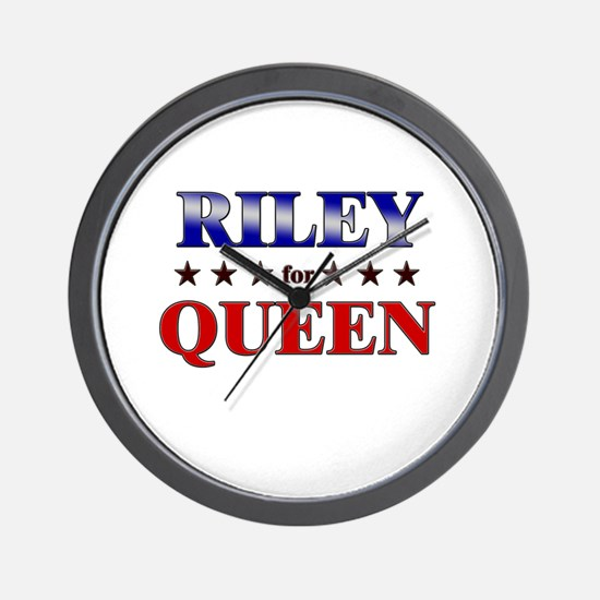 RILEY for queen Wall Clock