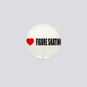 I Love Figure Skating Mini Button