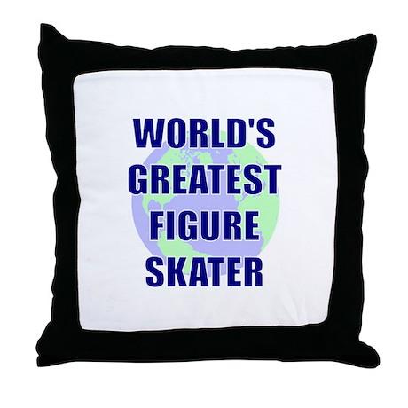 World's Greatest Figure Skate Throw Pillow
