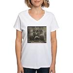 REAR VIEW Women's V-Neck T-Shirt