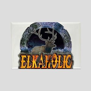 Elkaholic Elk t-shirts and gi Rectangle Magnet