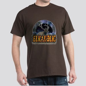 Elkaholic Elk t-shirts and gi Dark T-Shirt