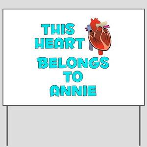 This Heart: Annie (B) Yard Sign