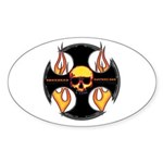 Maltese Cross Oval Sticker