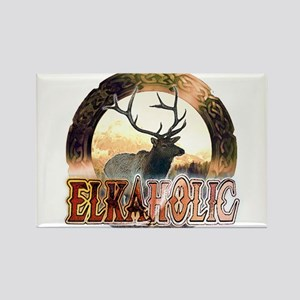 Elkaholic elk pride gifts Rectangle Magnet