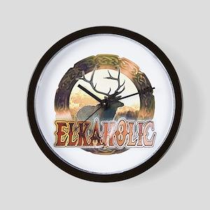 Elkaholic elk pride gifts Wall Clock