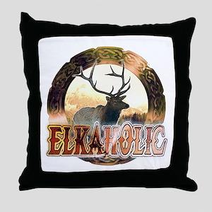 Elkaholic elk pride gifts Throw Pillow
