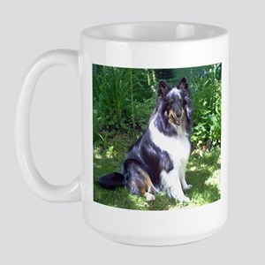 Sheltie in the Shade Large Mug