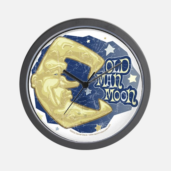 Old Man Moon Wall Clock