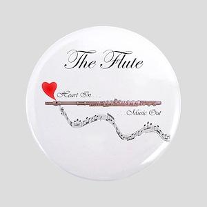 "'The Flute' 3.5"" Button"