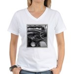 BURN OUT CHAMP Women's V-Neck T-Shirt