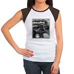 BURN OUT CHAMP Women's Cap Sleeve T-Shirt