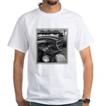 BURN OUT CHAMP White T-Shirt