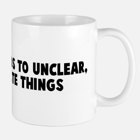 Verbosity leads to unclear in Mug