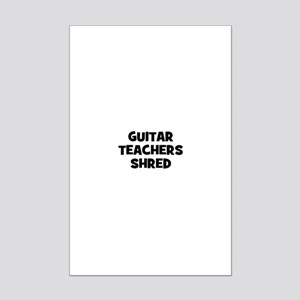 guitar teachers shred Mini Poster Print