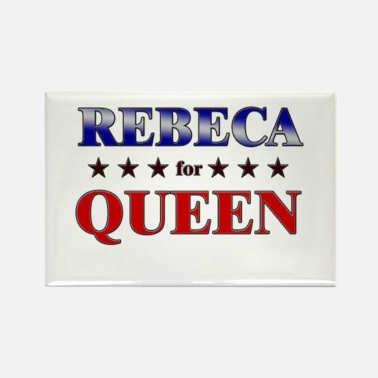 REBECA for queen Rectangle Magnet