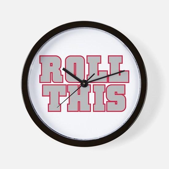 Original ROLL THIS! Wall Clock