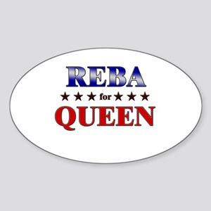REBA for queen Oval Sticker