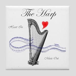 'The Harp' Tile Coaster