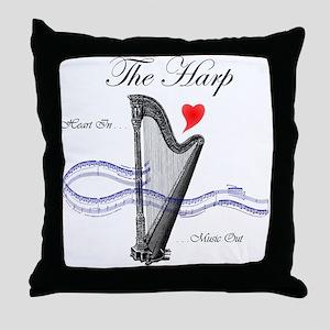 'The Harp' Throw Pillow