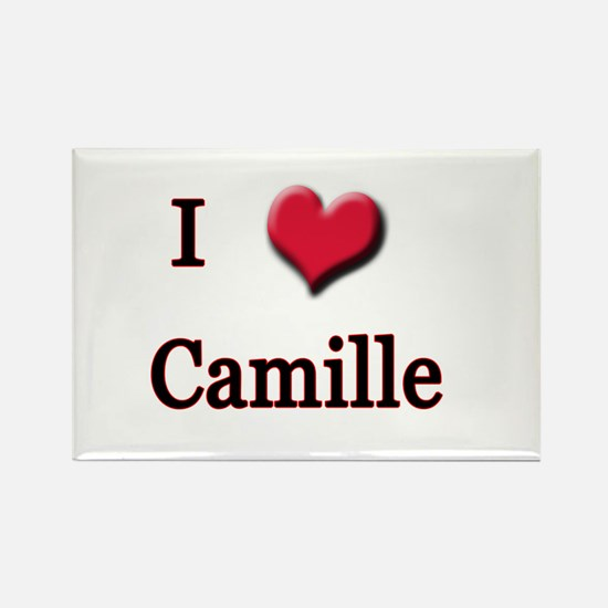 I Love (Heart) Camille Rectangle Magnet
