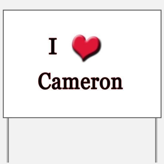 I Love (Heart) Cameron Yard Sign