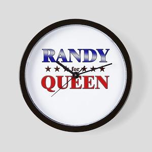 RANDY for queen Wall Clock