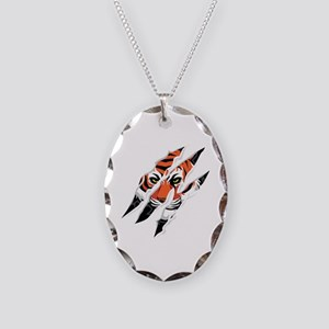 tiger claw Necklace Oval Charm