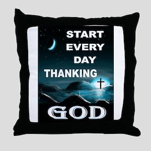 THANK YOU GOD Throw Pillow