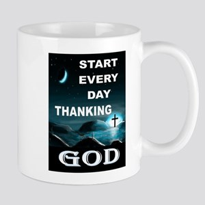 THANK YOU GOD Mugs