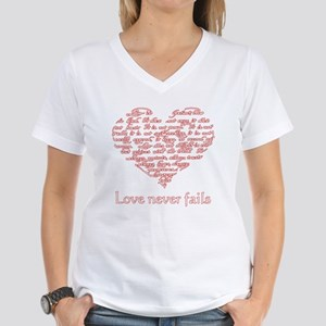 Love Never Fails - Women's Dark T-Shirt