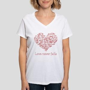 Love Never Fails - Women's Dark T-Shirt