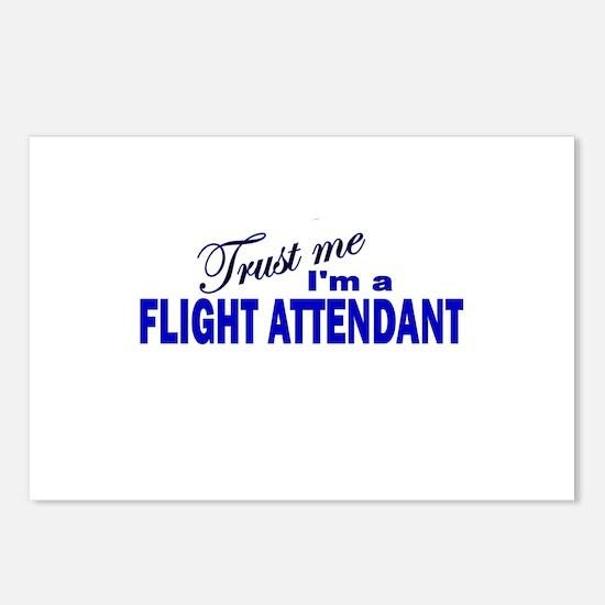 Trust Me I'm a Flight Attenda Postcards (Package o
