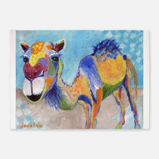 Camelorful 5'x7'Area Rug