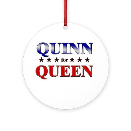 QUINN for queen Ornament (Round)