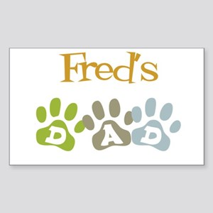 Fred's Dad Rectangle Sticker