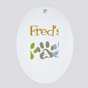 Fred's Dad Oval Ornament